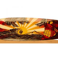 "Longboard Bamboo Pacific Sunset Completo 41"" x 9,625"""